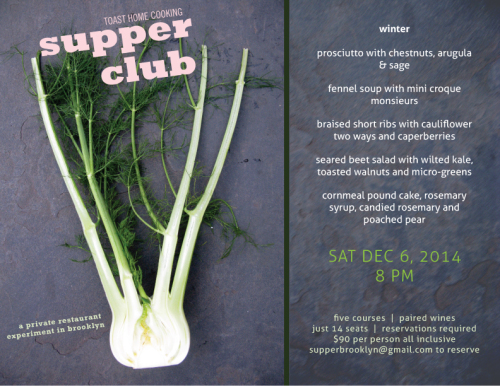 supper club in fort greene brooklyn pop-up restaurant underground dining