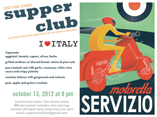 i love italy toast supper club fort greene brooklyn 10/13/12