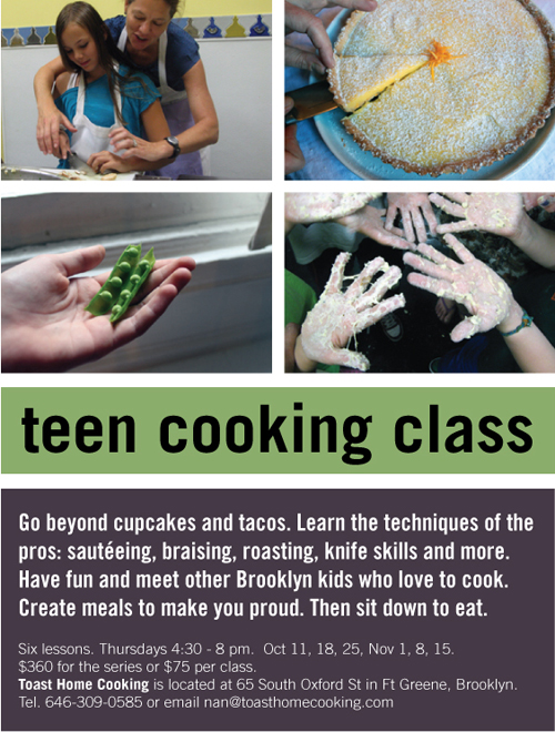 teen cooking class at toast home cooking in brooklyn
