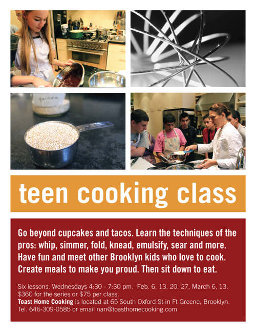 teen cooking class in brooklyn