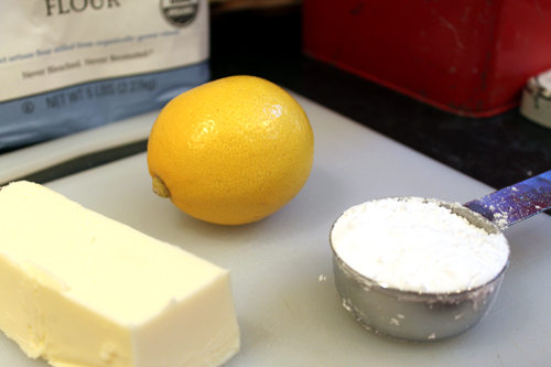 ingredients for a lemon tart