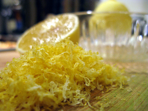 lemon zest and juice