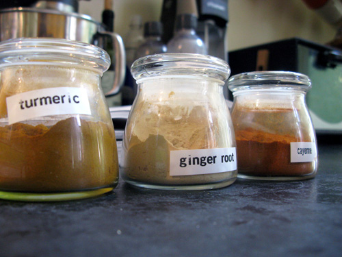 turmeric ginger cayenne spices to make homemade curry powder