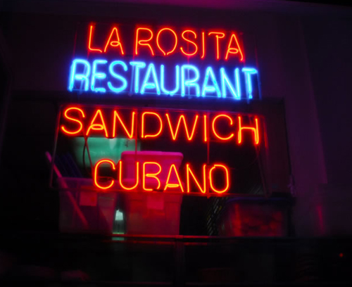 the window of long-gone la rosita on broadway