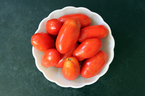firm ripe tomatoes for slow roasting