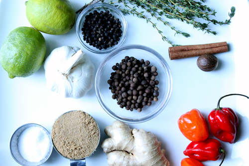 ingredients for jerk chicken