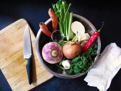 quick vegetable broth ingredients